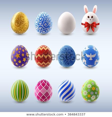 Conjunto cor ovos de páscoa decorado ornamento páscoa Foto stock © elenapro