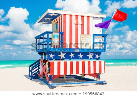 Sandy Beach Lifeguard House Stock photo © LAMeeks