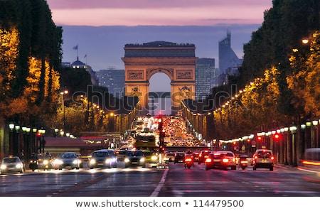 Париж Франция Триумфальная арка улице автомобилей лет Сток-фото © Hofmeester