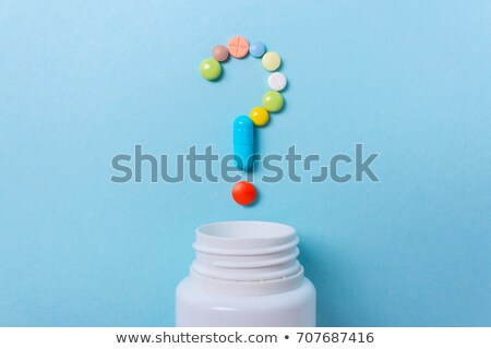 bottle for tablets with question mark  	 Stock photo © designers