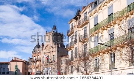 ратуша французский деревне красный архитектура желтый Сток-фото © ivonnewierink