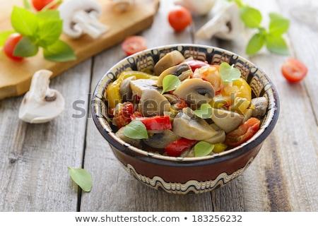 Vegetales ensalada setas alimentos cocina verano Foto stock © yelenayemchuk