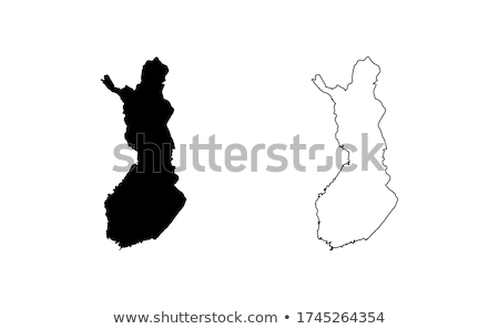 Silhueta mapa Finlândia assinar branco Foto stock © mayboro