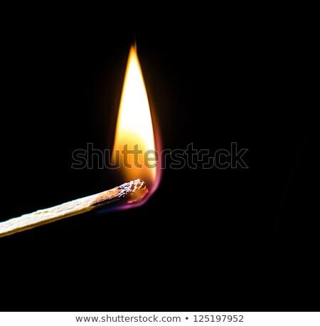 Alev siyah karanlık sıcak Stok fotoğraf © lucielang