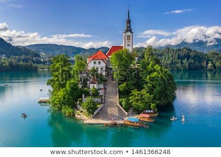 Eslovenia · panorama · recorrer · lago - foto stock © kasto