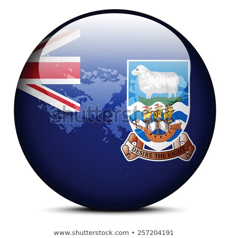 Map on flag button of Falkland Islands (Islas Malvinas) Stock photo © Istanbul2009
