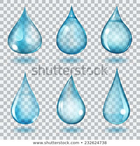 Set of 6 Water Droplets Stock photo © cteconsulting