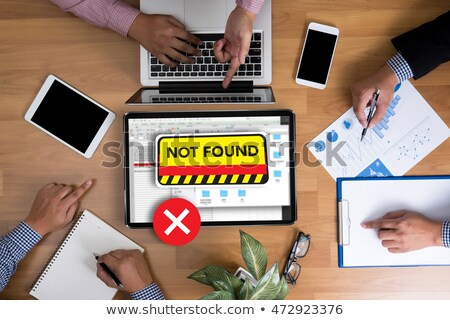 Top view 404 errore di pagina non Foto d'archivio © stevanovicigor