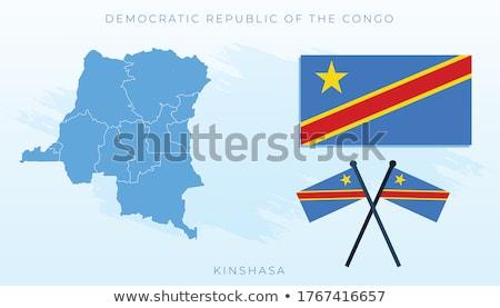Congo republika banderą Pokaż kraju Zdjęcia stock © tony4urban