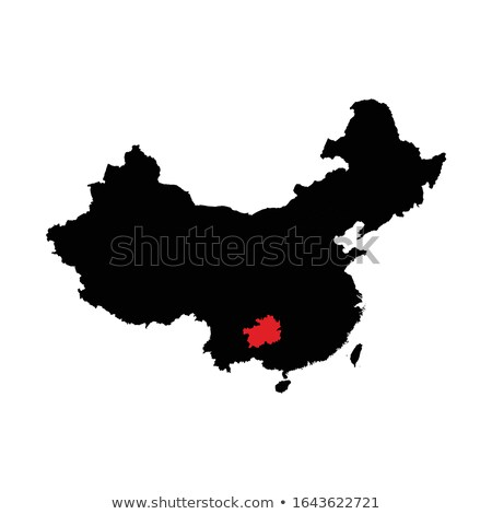 Map of People's Republic of China - Guizhou province Stock photo © Istanbul2009
