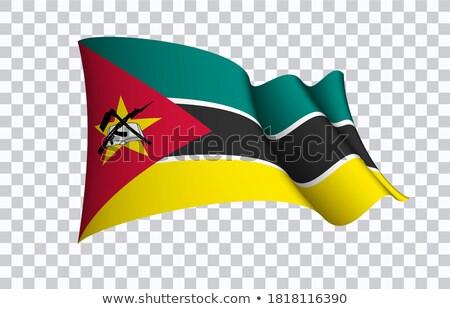 флаг Мозамбик изолированный белый Сток-фото © MikhailMishchenko
