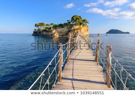 Pequeno ilha zakynthos Grécia praia nuvens Foto stock © Fesus