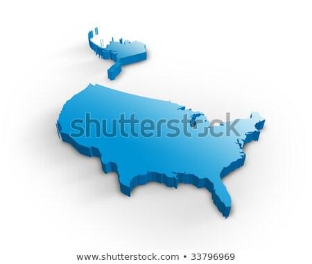 Colorado 3D Rood USA kaart ontwerp Stockfoto © iqoncept
