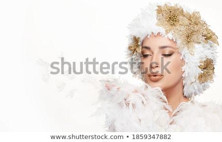 ángel retrato sensual mujer rubia asombroso Foto stock © PawelSierakowski