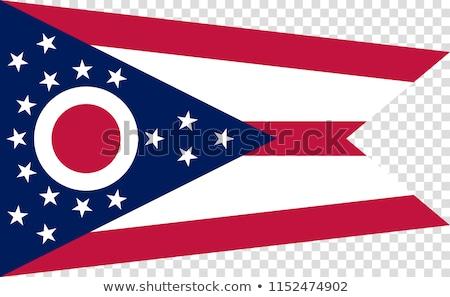 zászló · Ohio · csillagok · piros · fehér · szabad - stock fotó © creisinger