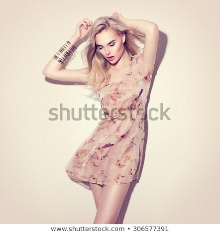 portrait of a gorgeous blonde stock photo © konradbak