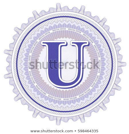 Abstract guilloche Logo, letter-U Stock photo © netkov1