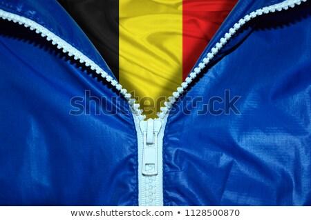 België vlag rits Blauw ontwerp ruimte Stockfoto © fuzzbones0