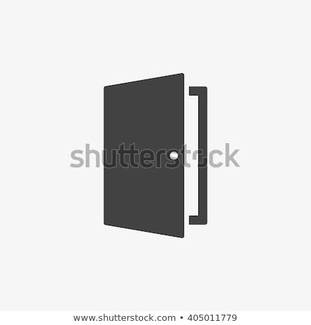 Open deur icon illustratie witte abstract ontwerp Stockfoto © get4net