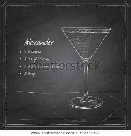 frío · alcohol · otro · bebidas · aislado · cóctel - foto stock © netkov1