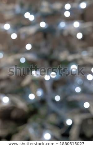 Plata Navidad vacaciones luces Foto stock © wenani