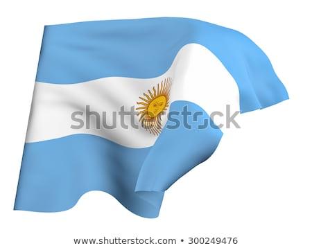Icon vlag Argentinië geïsoleerd witte land Stockfoto © MikhailMishchenko