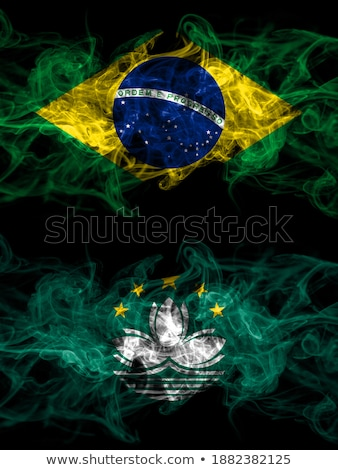 Brazil and Macau Flags Stock photo © Istanbul2009