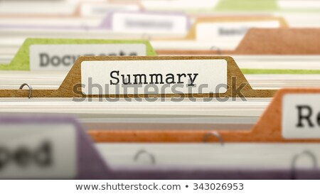 Summary - Folder Name in Directory. Stock photo © tashatuvango