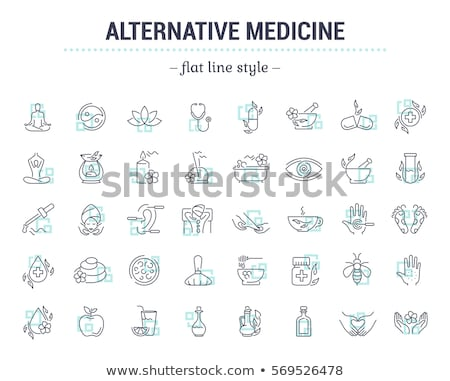 Herbal Medicine Icon. Flat Design. Stock photo © WaD