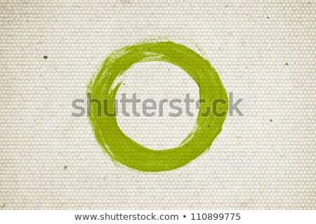 Zielone projektu kółko starego papieru tekst pierścienie Zdjęcia stock © marinini