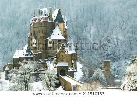 Kış yol masal kale Bina kar Stok fotoğraf © Steffus