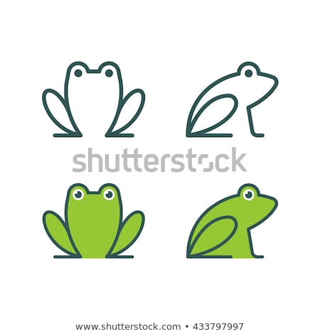 Frog Icon Illustration sign design Stock photo © kiddaikiddee