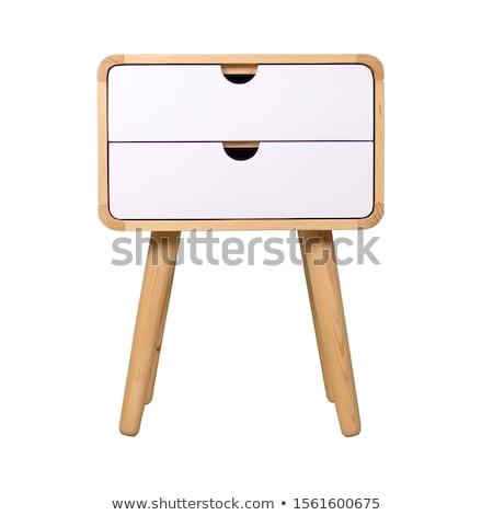 brown bedside table stock photo © rastudio