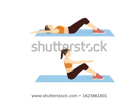 Knees of woman laying back Stock photo © Giulio_Fornasar