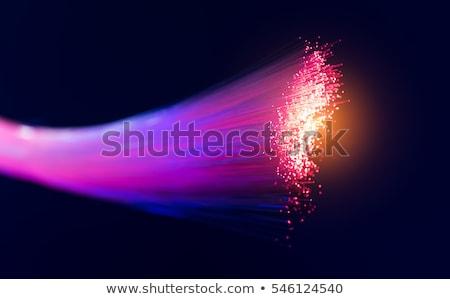 Сток-фото: аннотация · волокно · оптический · горизонтальный · свет · право
