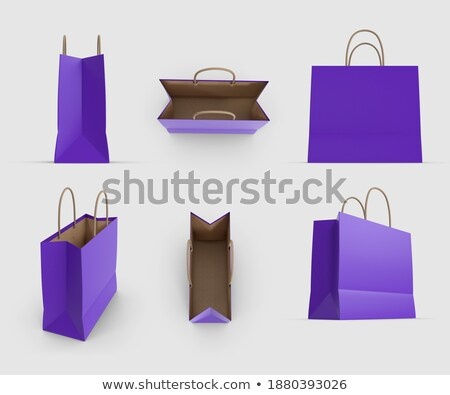 A purple bag with an empty label Stock photo © bluering