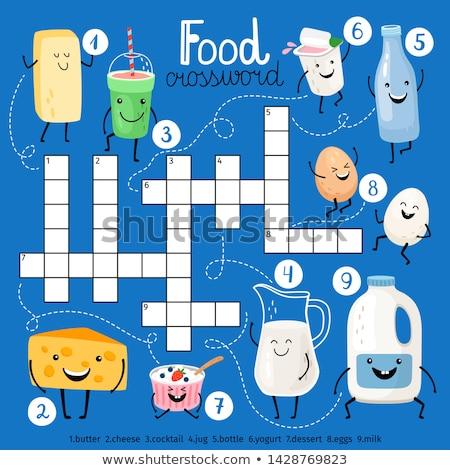 Puzzle słowo diety puzzle budowy fitness Zdjęcia stock © fuzzbones0
