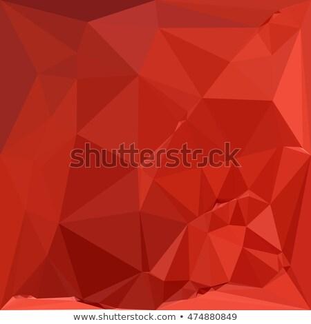 Amerikan gül kırmızı soyut düşük çokgen Stok fotoğraf © patrimonio