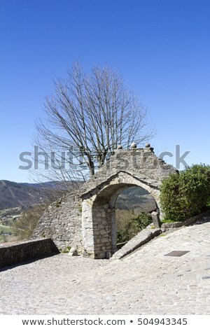The Large Gate of Old Town Buzet in Istria, Croatia Stock photo © smuki