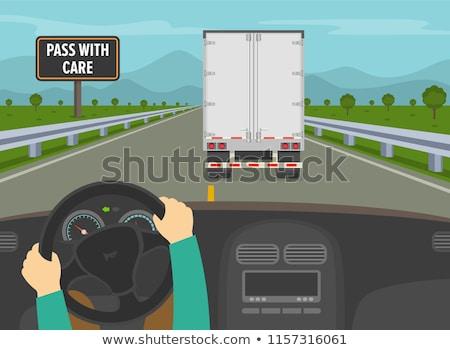 Passing truck Stock photo © remik44992