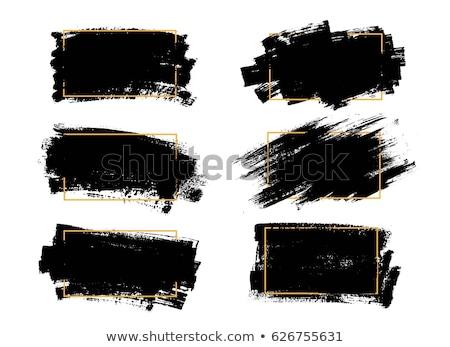 Foto stock: Establecer · negro · pintura · tinta · cepillo