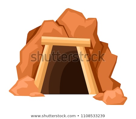 ストックフォト: 鉱山 · 入り口 · 白 · 実例 · 風景 · ドア
