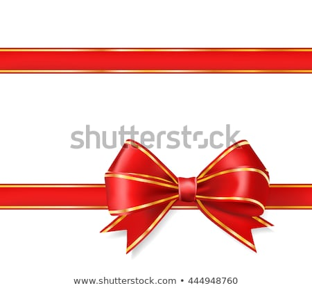 Stock photo: Stars with red ribbon