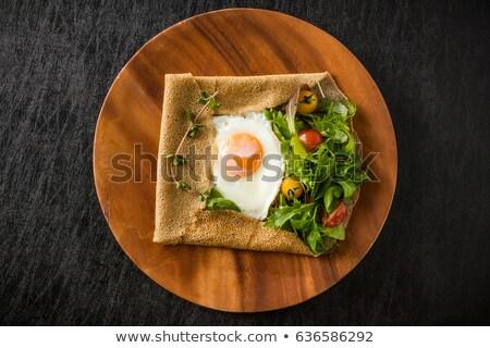 Crepe ovo queijo comida salada refeição Foto stock © M-studio