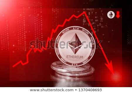 Ethereum cryptocurrency value drops Stock photo © stevanovicigor