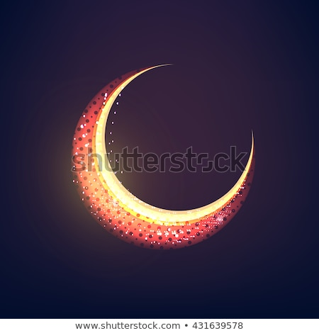 eid festival moon made with glitters Stock photo © SArts