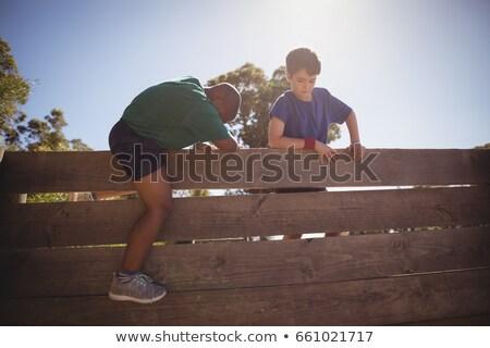 фитнес · осуществлять · мальчика · здорового · молодые - Сток-фото © wavebreak_media
