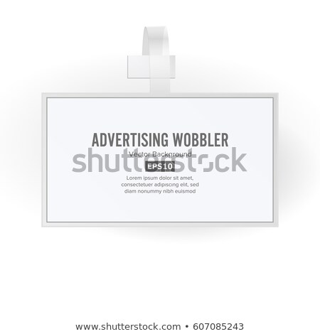 plastic advertising wobbler vector papper price tag template stock photo © pikepicture