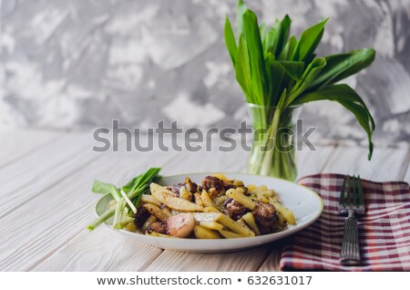 Ramsons on a plate Stock photo © Saphira