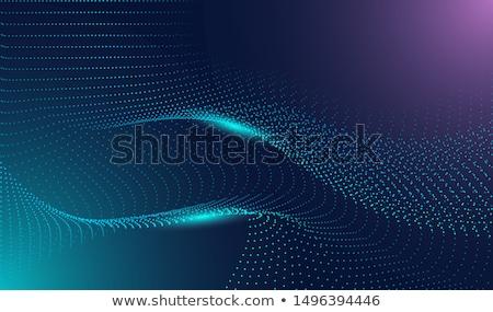 Elegáns technológia részecske vektor város digitális Stock fotó © SArts
